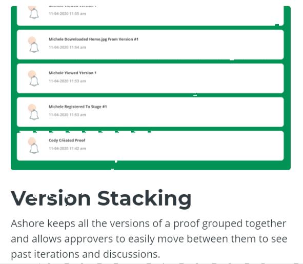 Version Stacking -Ashore APP