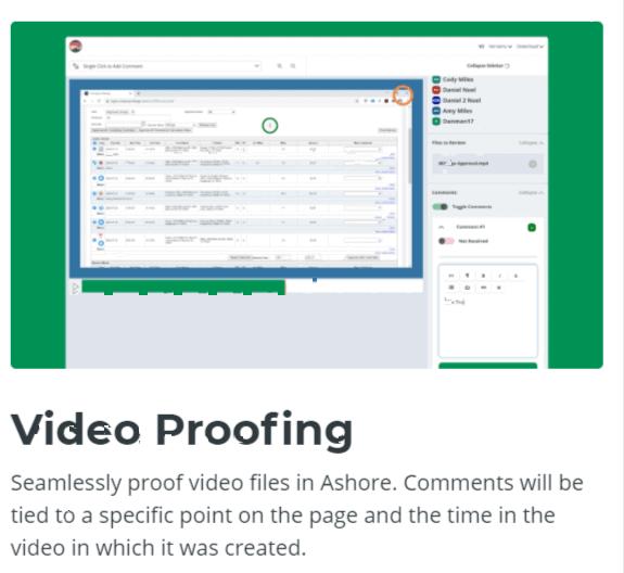 Video Proofing-Ashore App