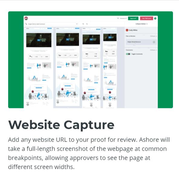 Website Capture-Ashore App