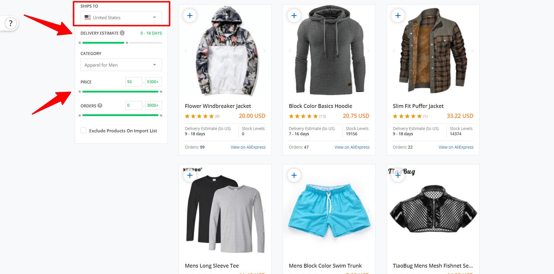Search Aliexpress products at SaleHoo