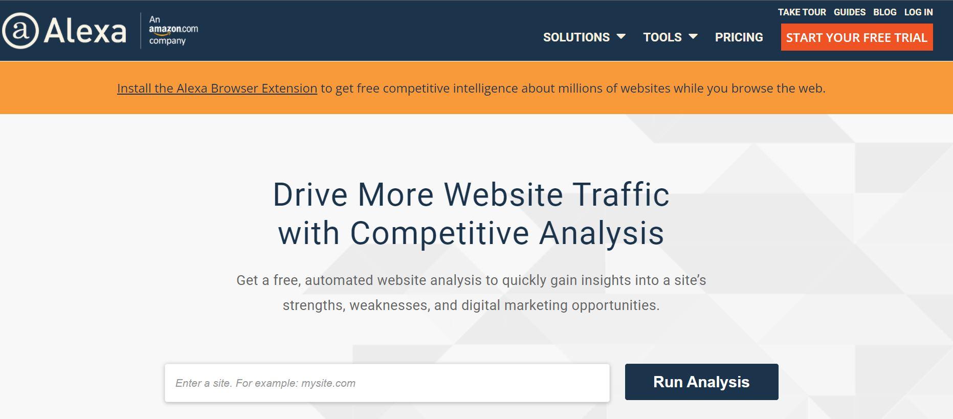 alexa- amazon website traffic